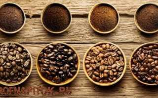 Виды зерен кофе