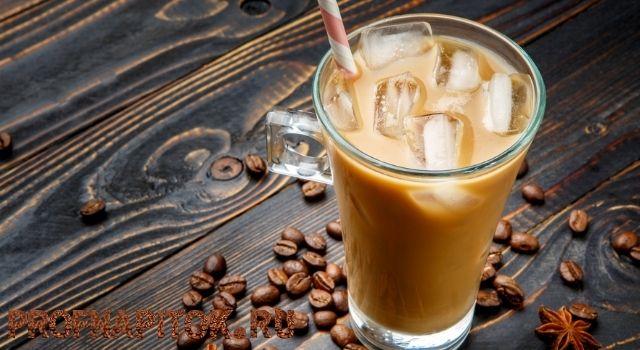 кофе со льдом и сгущенкой
