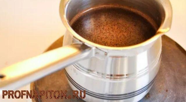 кофе на электрической плите
