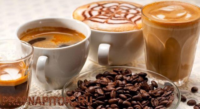 виды горячего кофе
