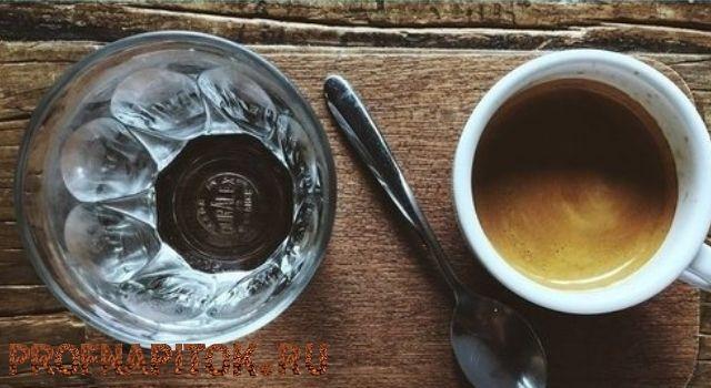 польза воды после кофе