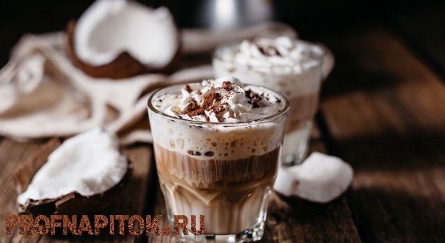 шоколадный кофе на кокосовом молоке