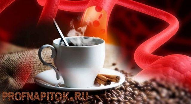 Влияние чашки кофе на сердечно-сосудистую систему