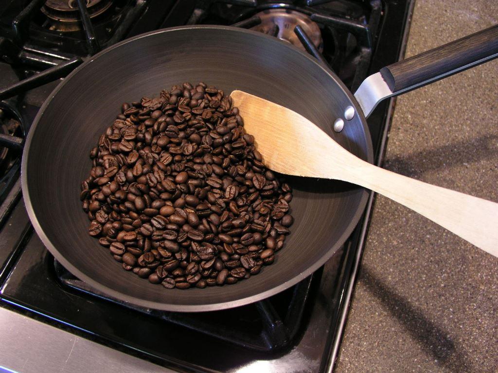 обжарка зерен кофе